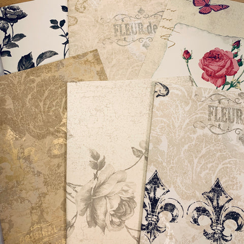 Fleur de Rose Wallpaper Collection set of 6 - LZ