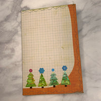 Christmas Trees Stitched Cardstock Journal Cover - LZ
