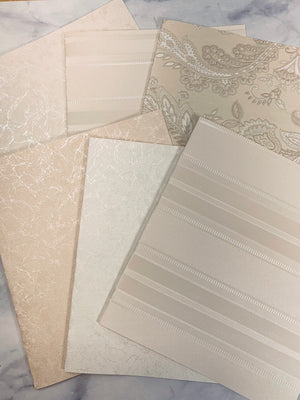 Neutral Satins Wallpaper Collection set of 6 -LZ
