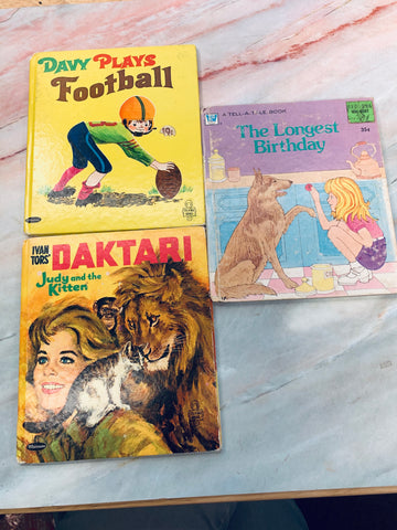Vintage Children's Book Random Lot of 3- LZ