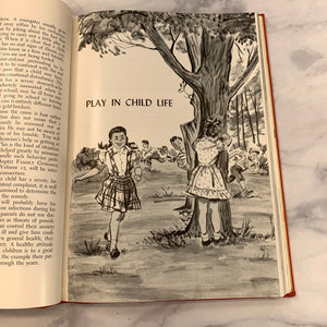 Vintage 1954 Childcraft Book School - LZ