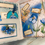 Blue Blossoms Junk Journal by Yvette Quale
