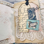 Blue Embroidered Junk Journal by Lisa Masquelier (MCh)
