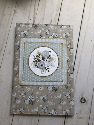 Floral Journal Cover with Pockets and Ephemera -JH