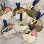 Blue Nature Circle Pocket Tags set of 7 - LZ