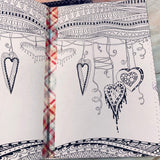 Whimsical Stitched Journal Covers set of 4 - LZ