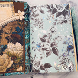Teal Floral Junk Journal by Jane Dilley