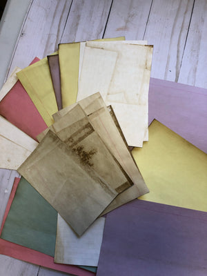 Coffee Dyed Index Cards - JH