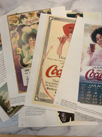Coca-Cola Ads Book Pages set of 10 - JH