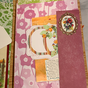 Bright Altered Book Junk Journal by Louise Lucero