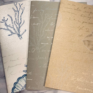 Seaside Script Wallpaper Collection set of 3- LZ
