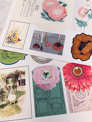 Cardstock Ephemera Prints Set 4 - 10 Pages- LZ