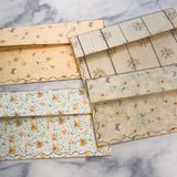 Vintage Sunflower Stitched Envelope Pouch set of 4- LZ