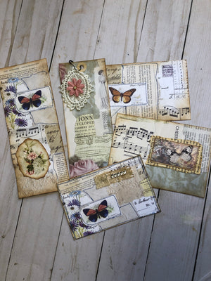 Double Sided Pocket with Ephemera - JH