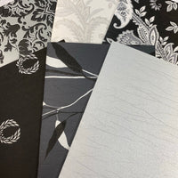 Black & Silver Wallpaper Collection set of 6 - LZ