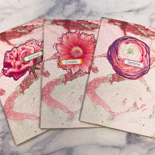 Bright Floral Journal Covers set of 3 - LZ