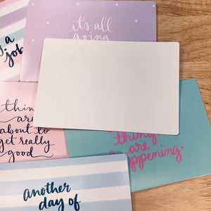 Pastel Inspirational Journal Cards set of 6 -LZ