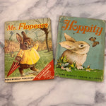 Hoppity & Mr. Flopears Vintage Children's Book Lot of 2 - LZ
