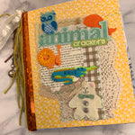 Animal Crackers Altered BookJunk Journal by Louise Lucero