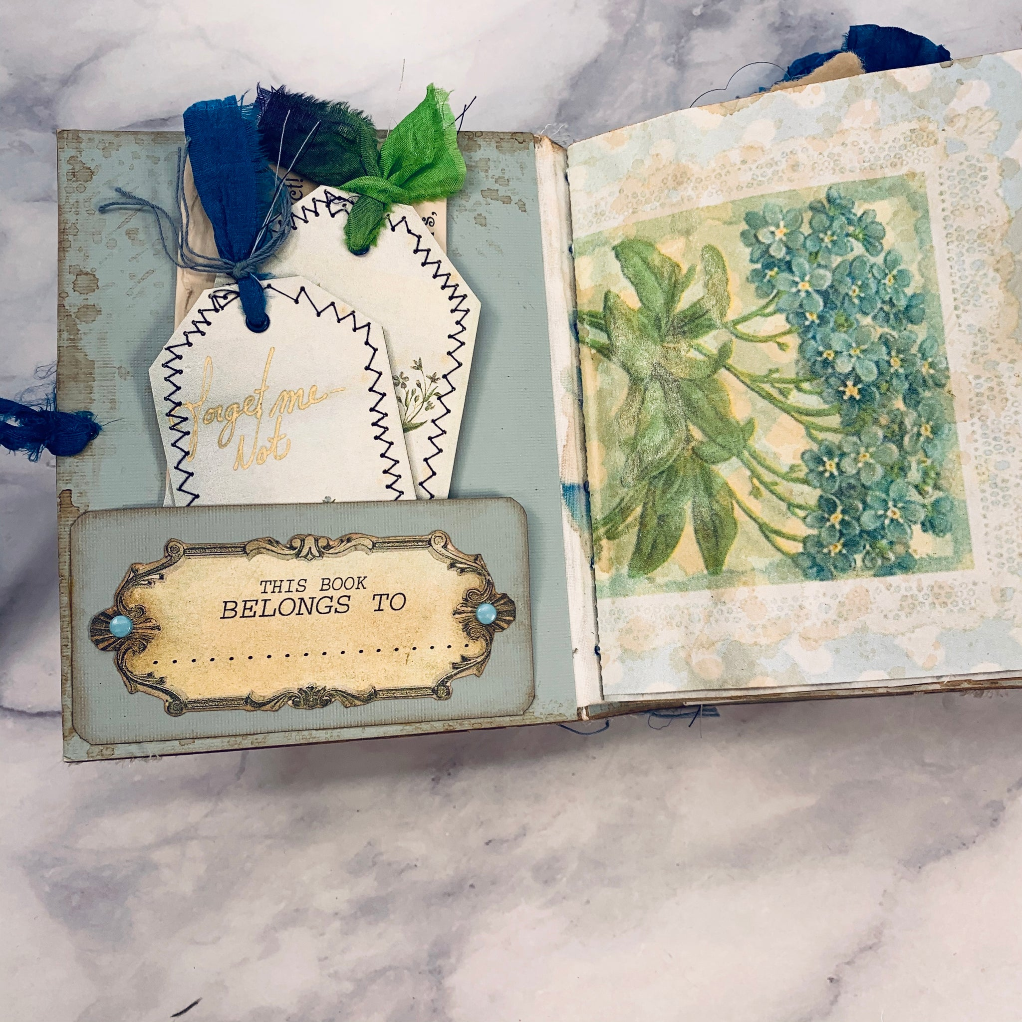 Forget Me Not Mini Junk Journal by Frances Serpa