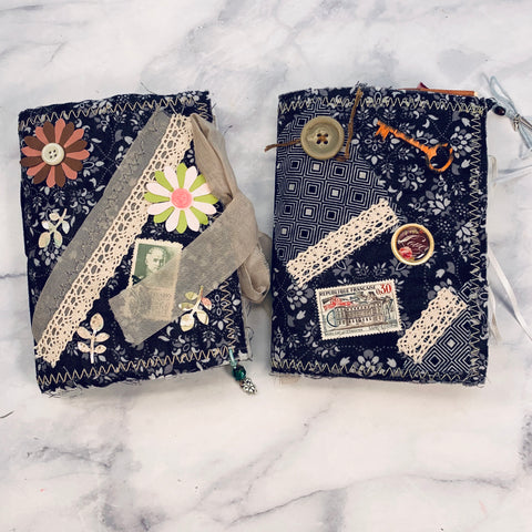 Dark Floral Mini Junk Journal set of 2 by Yaris Gonzalez