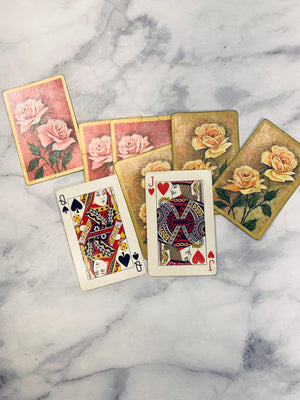 Vintage Roses Playing Cards set of 8 - LZ