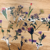 Clear Realistic Flower Stickers- LZ