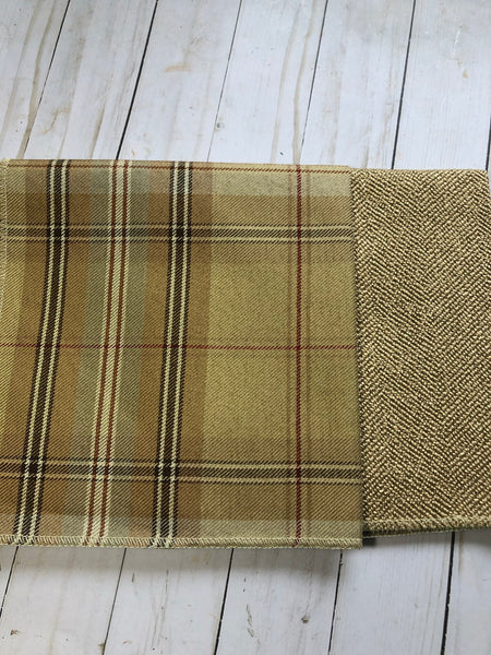 Pretty Plaid Upholstery Fabric Samples-JH