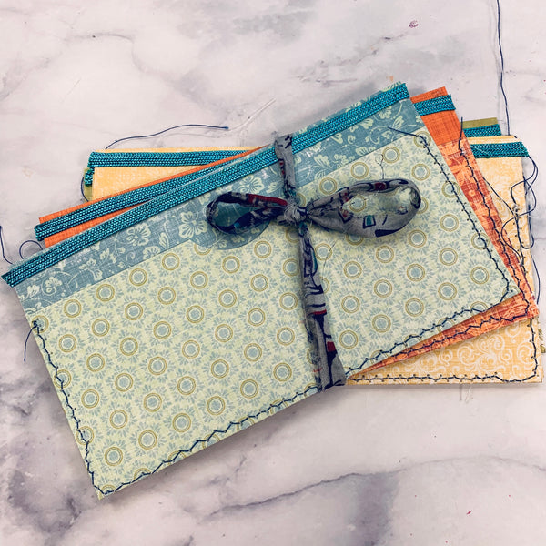 Bright Boho Stitched Pouches set of 6 - LZ