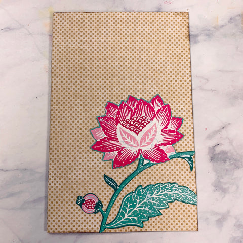 Pink Flower Journal Cover - LZ