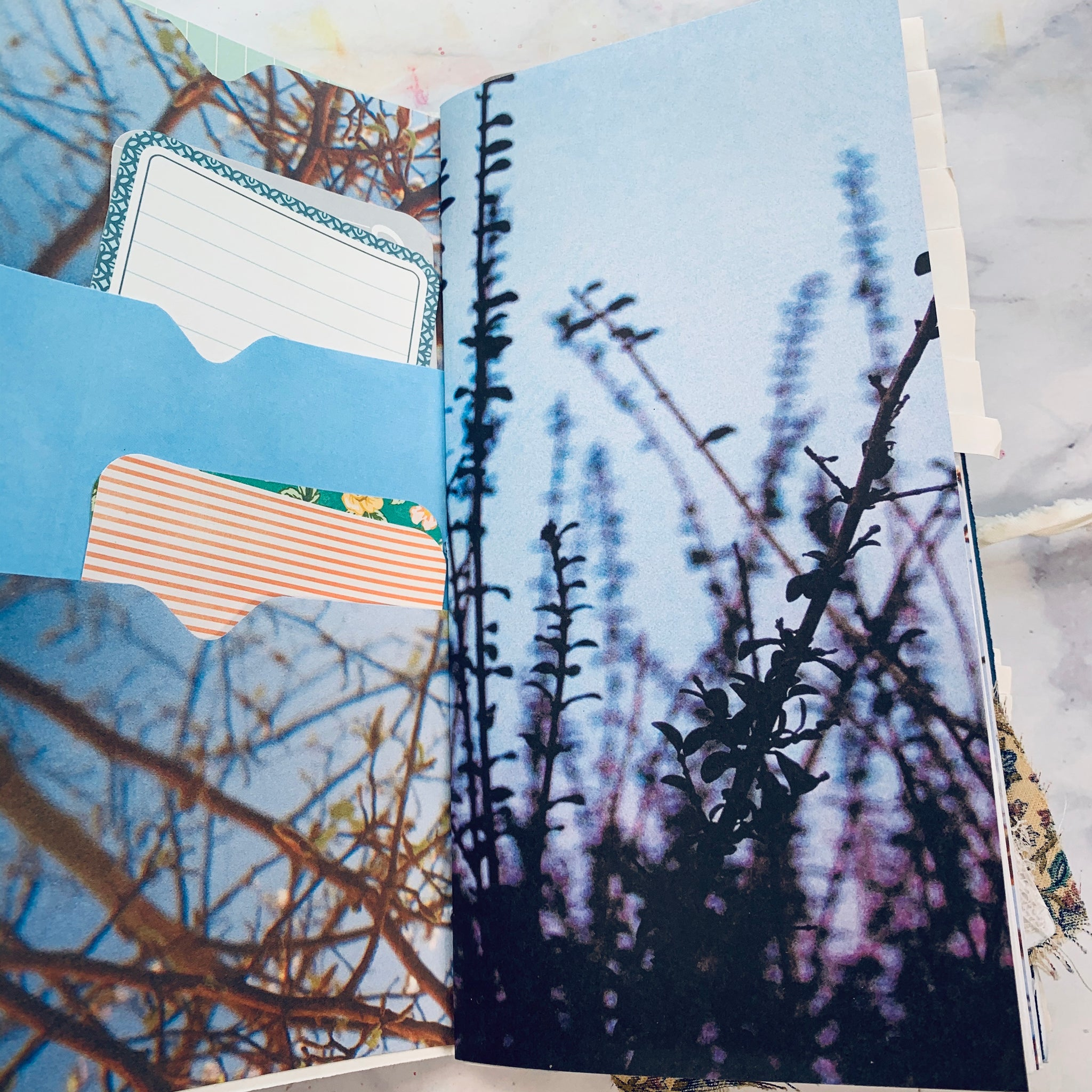 Set of 4 Blue Junk Journals by Tamara Moore