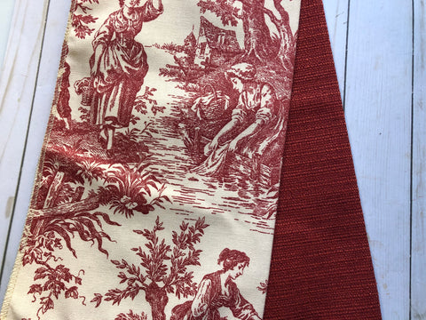 Garnet Toile Upholstery Fabric Samples - JH - Set of 2