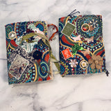 Bright Fabric Mini Junk Journal set of 2 by Yaris Gonzalez