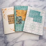 Set of 3 Small Junk Journals by Maria from Greece