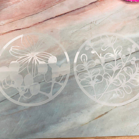 6 inch Circle Stencils set of 2 - LZ