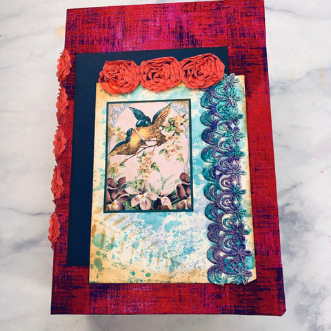 Feather's & Blooms Junk Journal by Debbie Ferrell