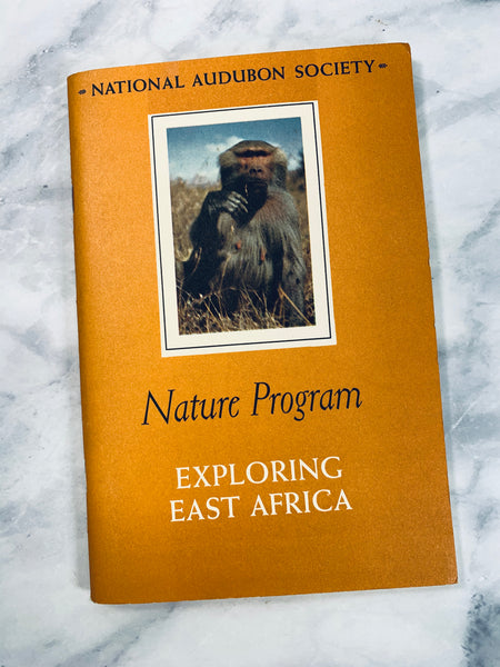 Audubon Nature Program East Africa Vintage Booklet