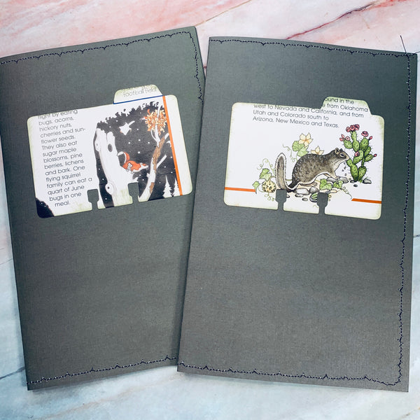 Squirrel Stitched Cardstock Journal Covers set of 2 - LZ