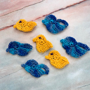 Flock of Hand Crocheted Birds - CZ