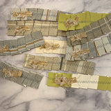 Embellished & Stitched Wallpaper Ribbons set of 10 - LZ