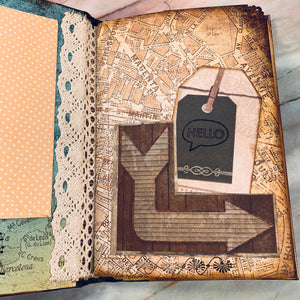 Travel Grunge Journal by Diana Smith