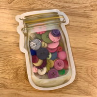 Mason Jar Bag of Buttons - LZ