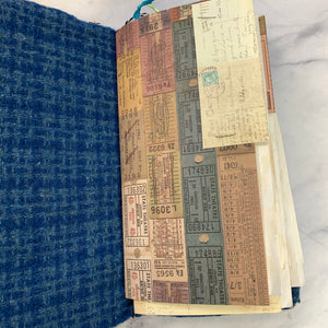 Blue Wool Flowish Junk Journal by Louise Lucero