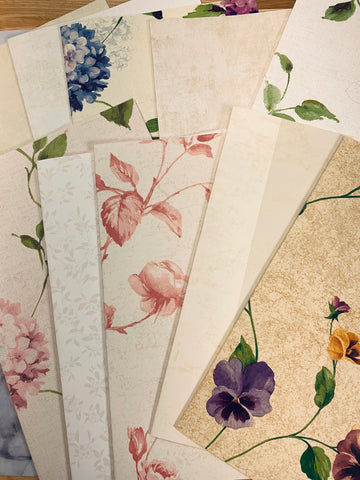 Country Garden Wallpaper Collection set of 8- LZ
