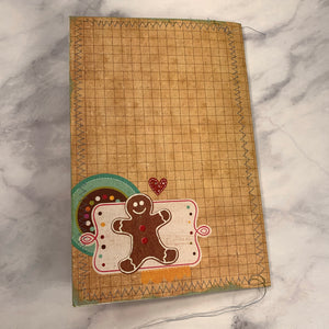 Merry Christmas Stitched Cardstock Journal Cover - LZ