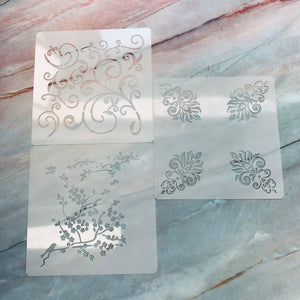 Nature Swirl Stencils set of 3 - LZ