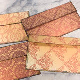 Sweet Flourish Stitched Envelope Pouches set of 4 - LZ