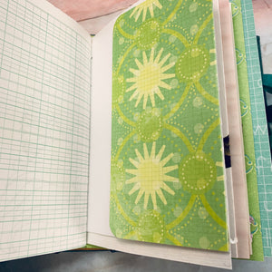 Set of 2 Green Junk Journals by Kim Warwick