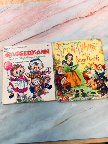 Vintage Children's Book Story Lot of 2 - LZ