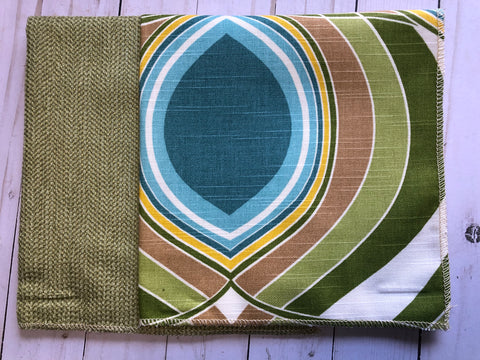 Lovely Lime Upholstery Fabric Sample -Jh